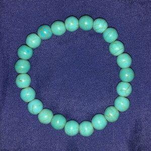 Other - Blue Turquoise Stone Mala Beads Bracelet